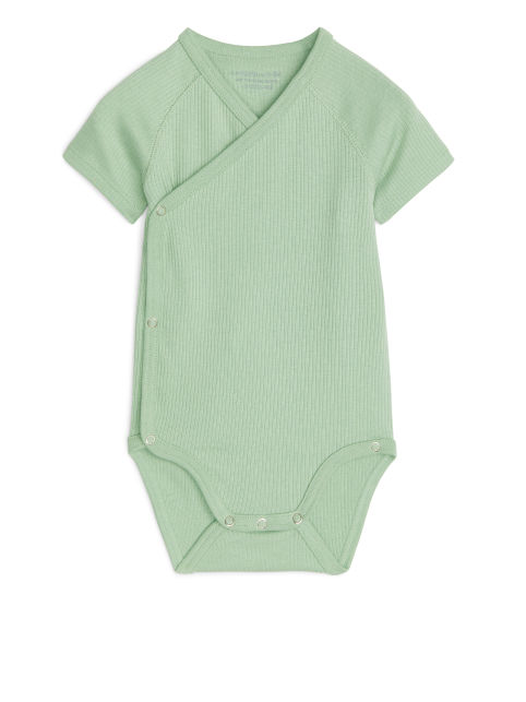 Cotton Lyocell Wrap Bodysuit