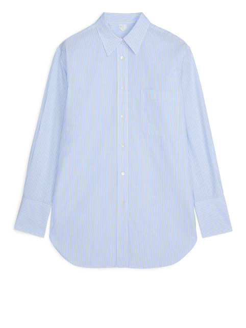 Front image of Arket no ecom-oversized poplin shirt in white