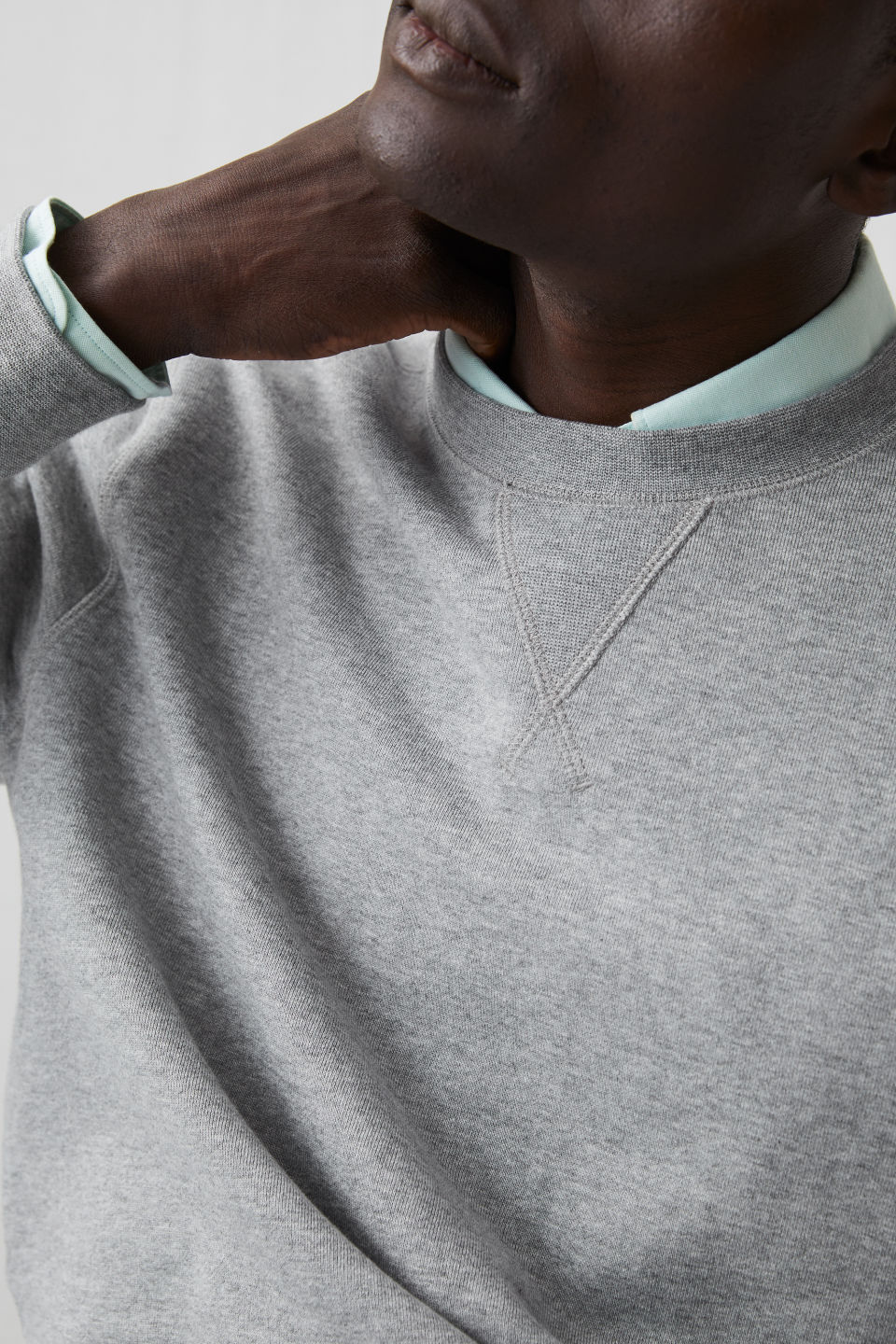 7f61c8bec French Terry Sweatshirt - Grey Melange - Sweatshirts   Hoodies - ARKET
