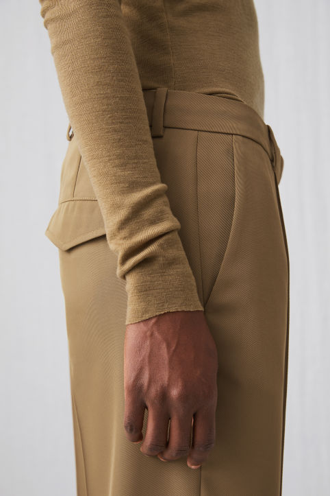 Fluid Twill Trousers