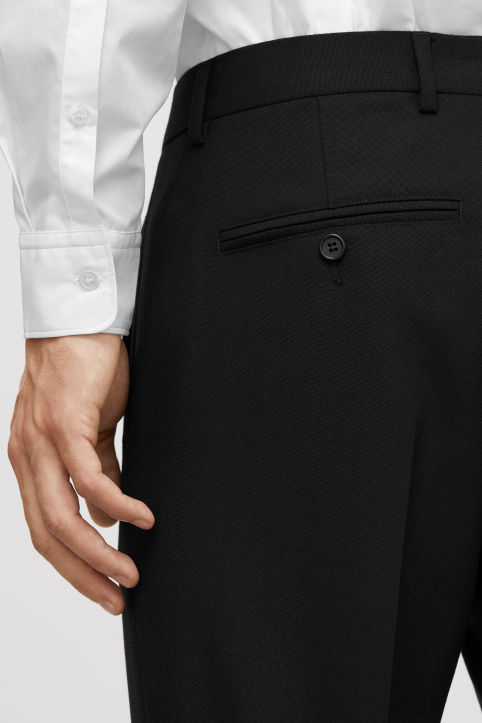 Slim Wool Hopsack Trousers