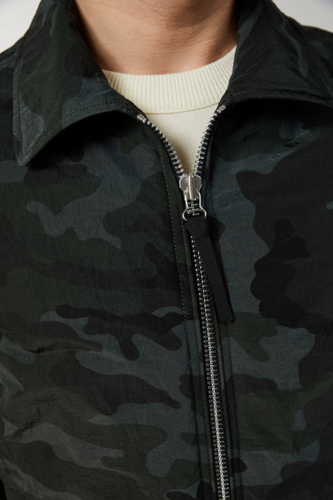 Padded Nylon Canvas Blouson
