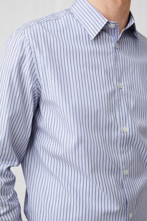 Shirt 6 Punch Stripe Poplin
