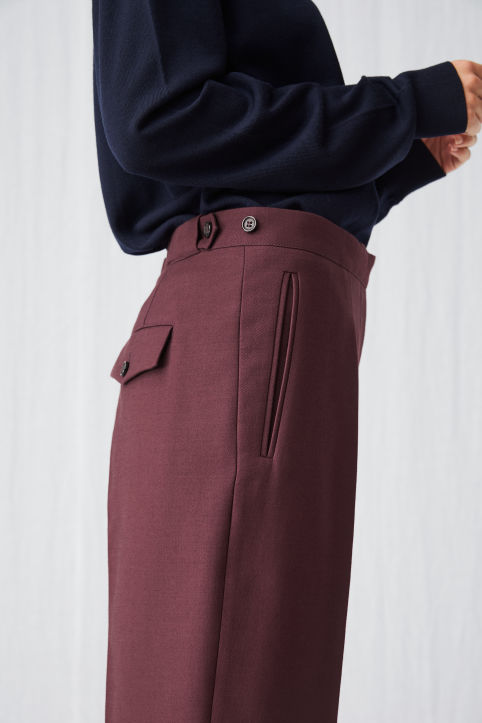 Cotton Wool Twill Trousers