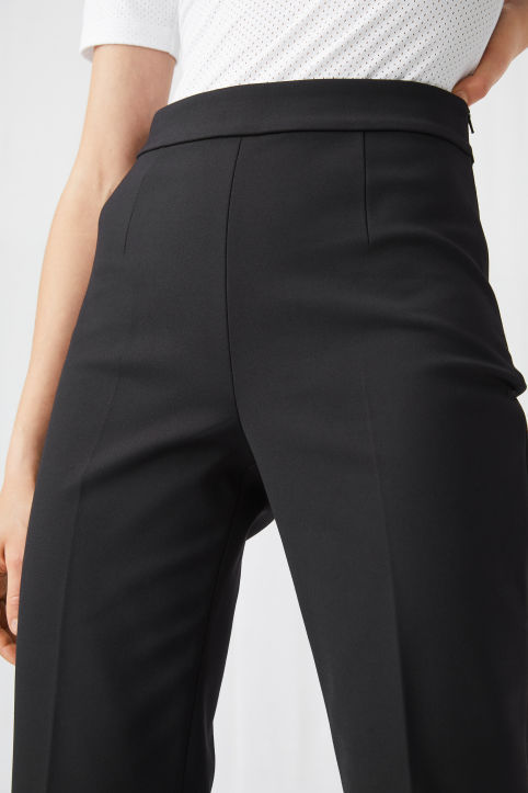 Cropped Cotton Trousers