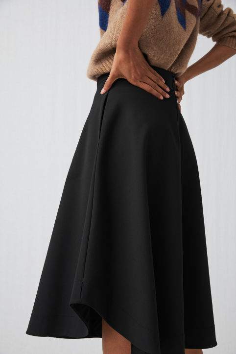Heavy Cotton A-line Skirt