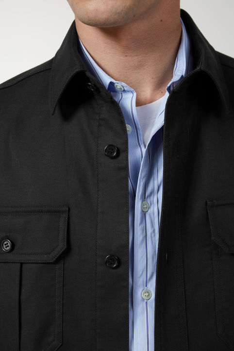 Cotton Twill Utility Overshirt