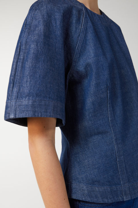 Denim Short-Sleeve Top