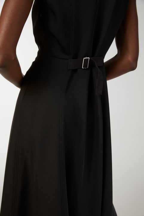 A-Line Fluid Twill Dress