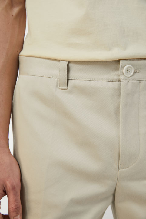Cotton Satin Wide Trousers