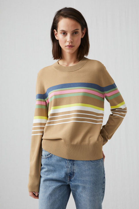 Striped Viscose Jumper