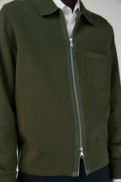Pima Cotton Zip-Up