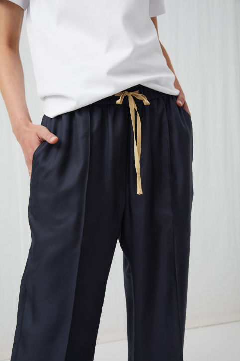 Silk Drawstring Trousers