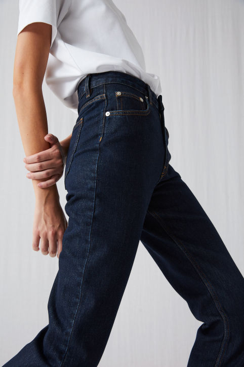 Slim Straight Rigid Jeans