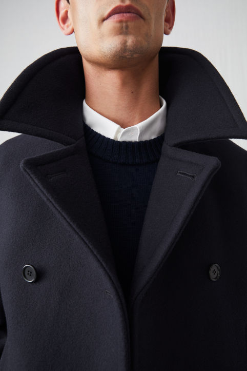 Wool Melton Pea Coat
