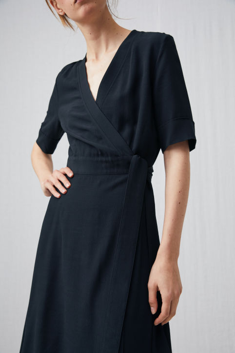 Flared Wrap Dress