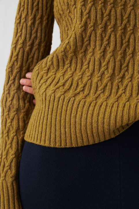 Wool Cable-Knit Jumper