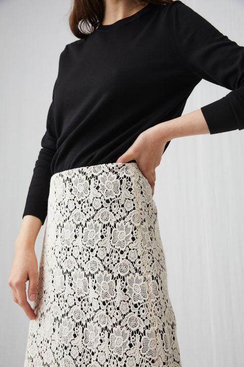 Cotton Lace Skirt