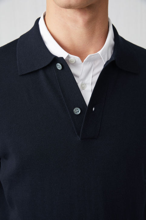 Merino Polo Jumper