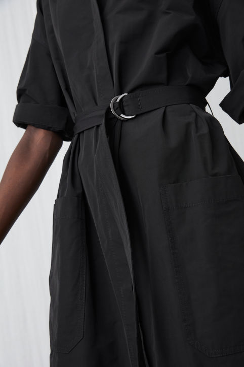 Taffeta Shirt Dress