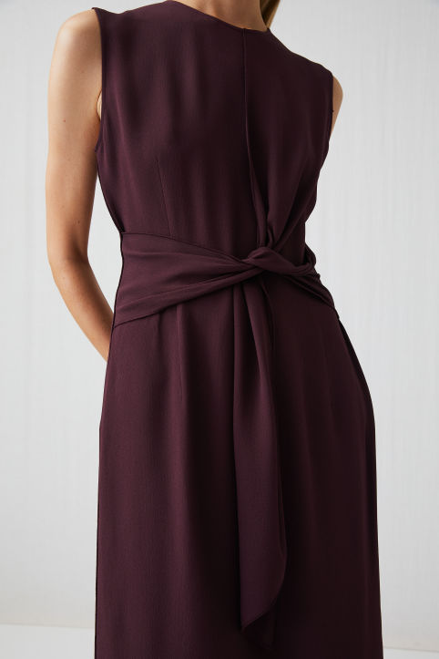 Knotted Crepe Dress
