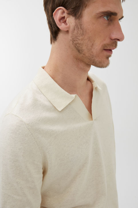 Cotton Linen Polo Shirt