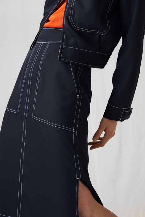 Fluid Twill Skirt