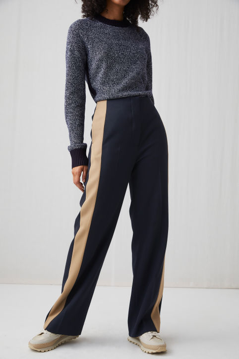 Side Panel Wool Trousers