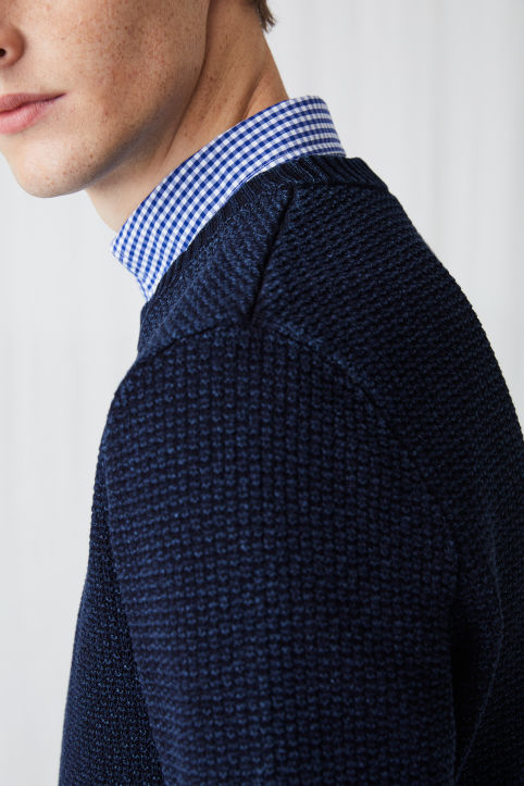 Indigo Fisherman's Jumper