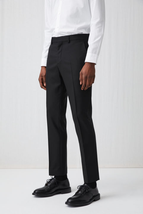 Wool Hopsack Trousers, Regular