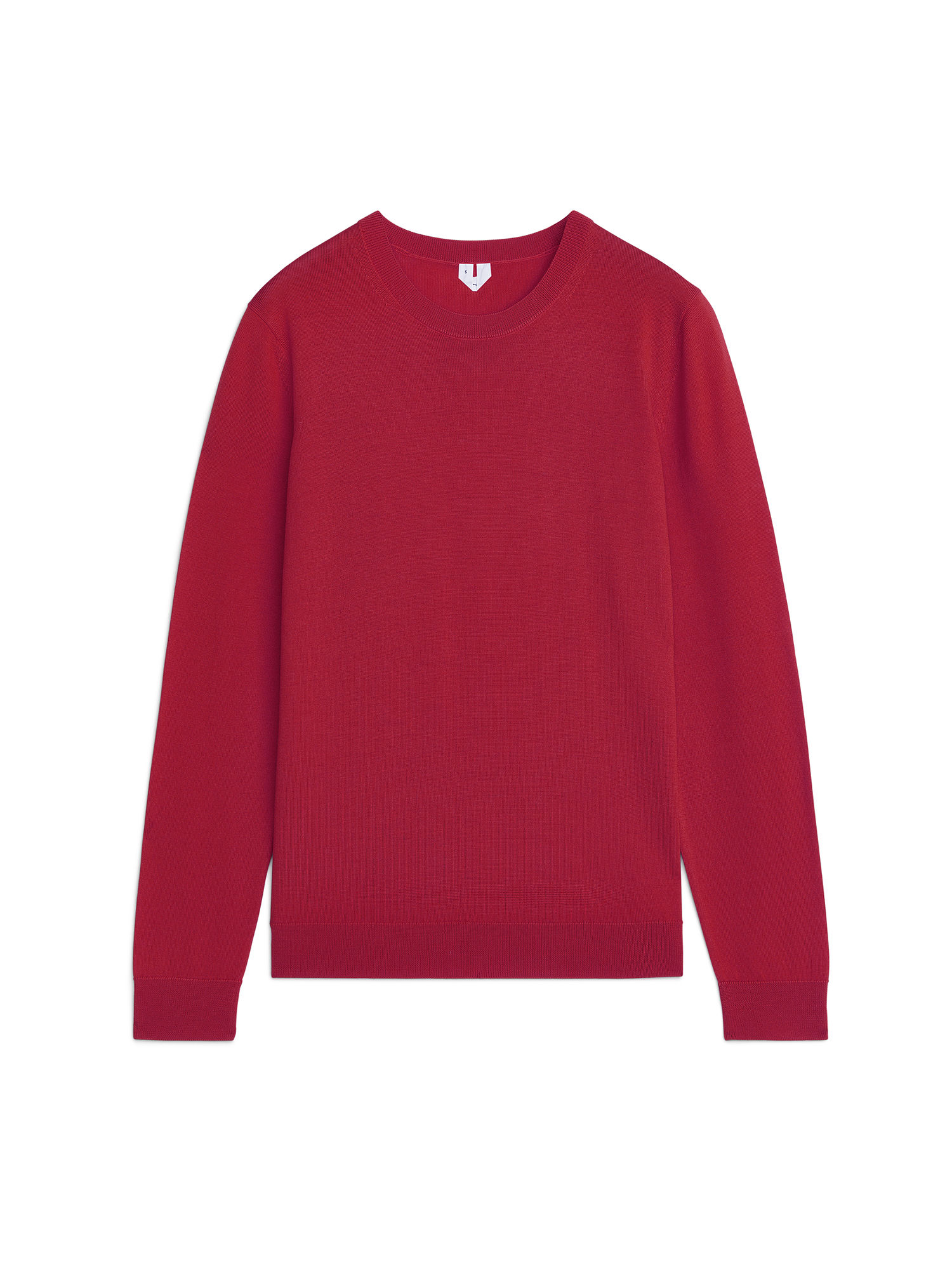 Fabric Swatch image of Arket merino crew-neck jumper in red