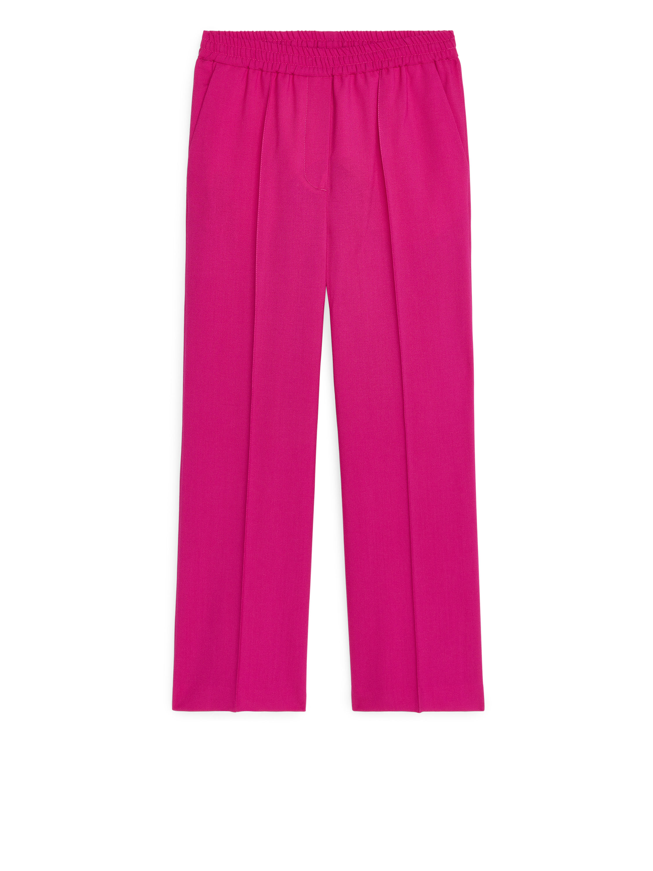 Fabric Swatch image of Arket elastic waist wool trousers in pink