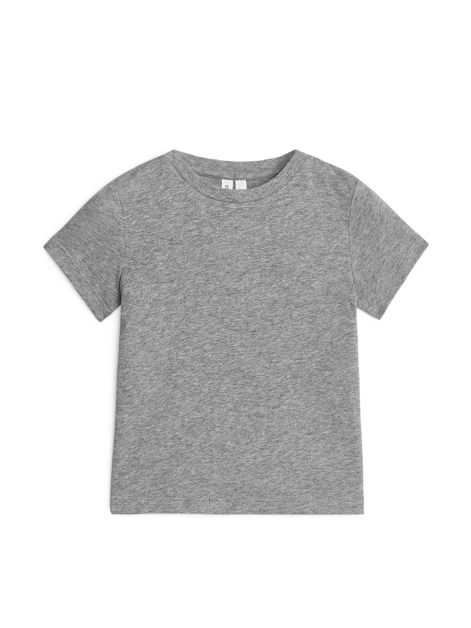 Fabric Swatch image of Arket organic cotton crew-neck t-shirt in grey