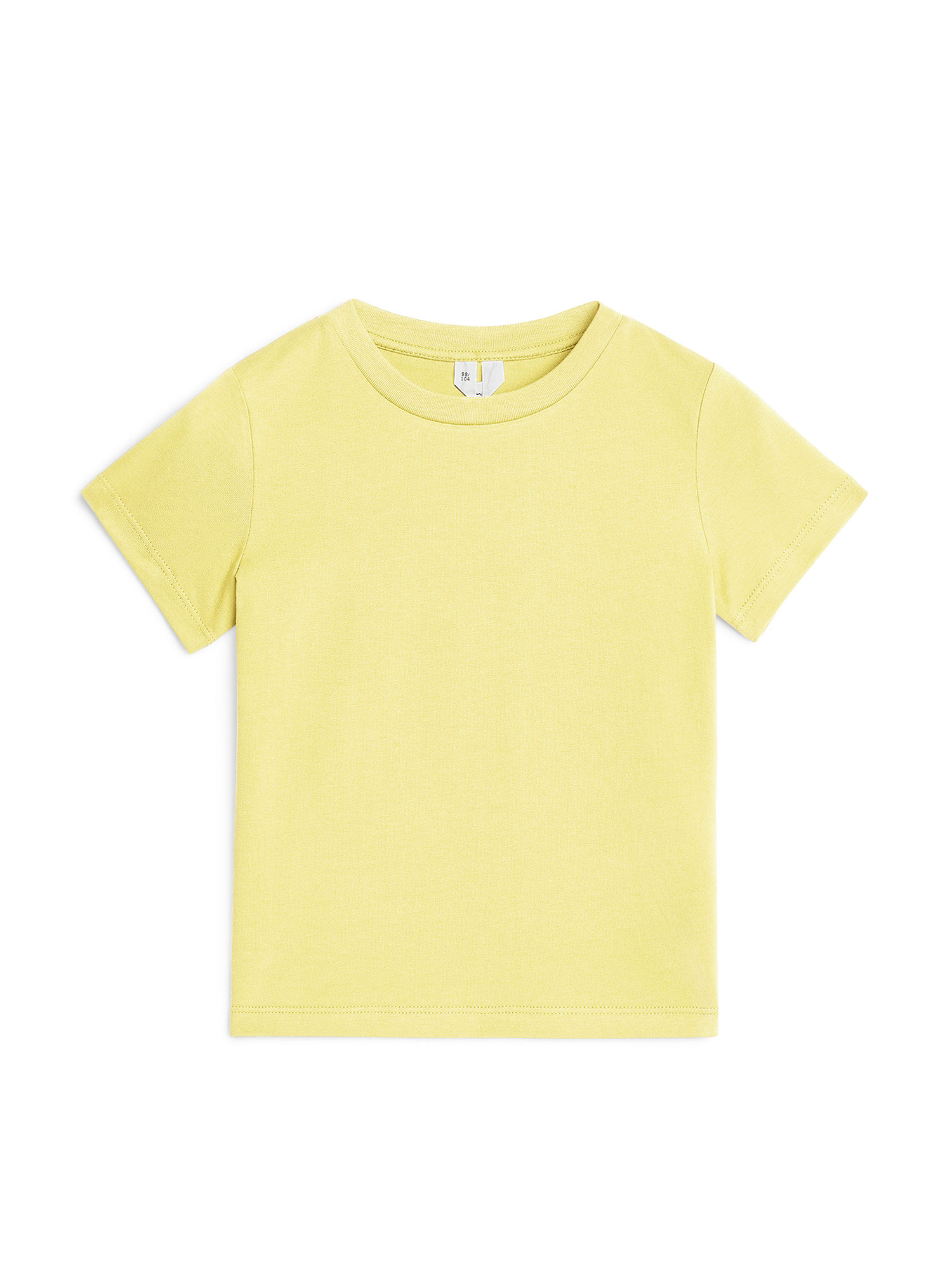 Fabric Swatch image of Arket organic cotton crew-neck t-shirt in yellow