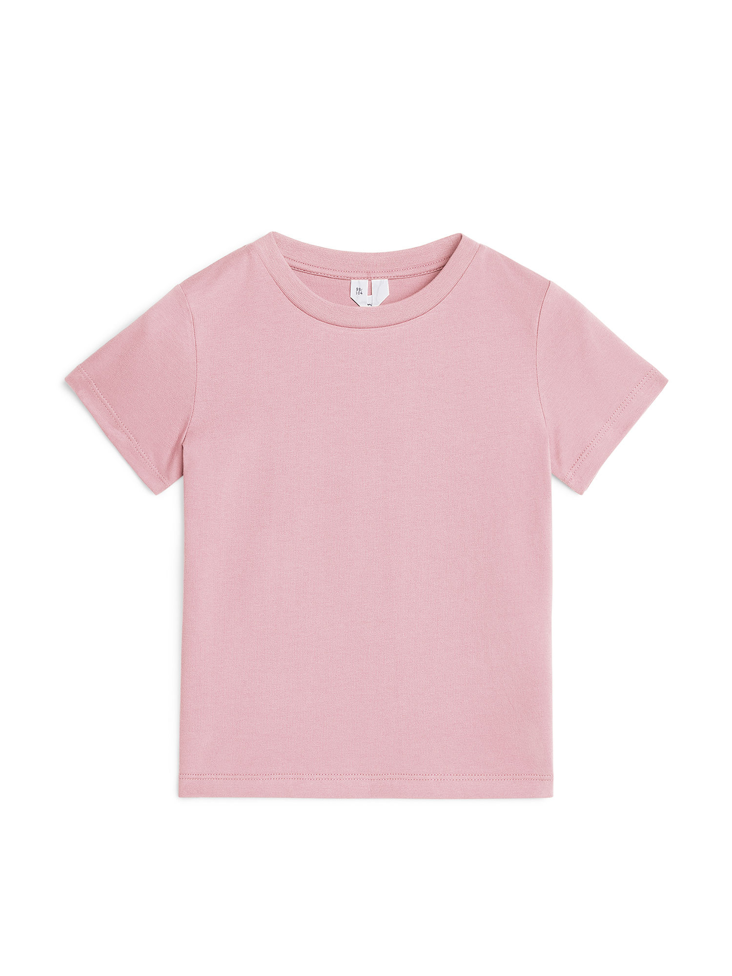 Fabric Swatch image of Arket organic cotton crew-neck t-shirt in pink