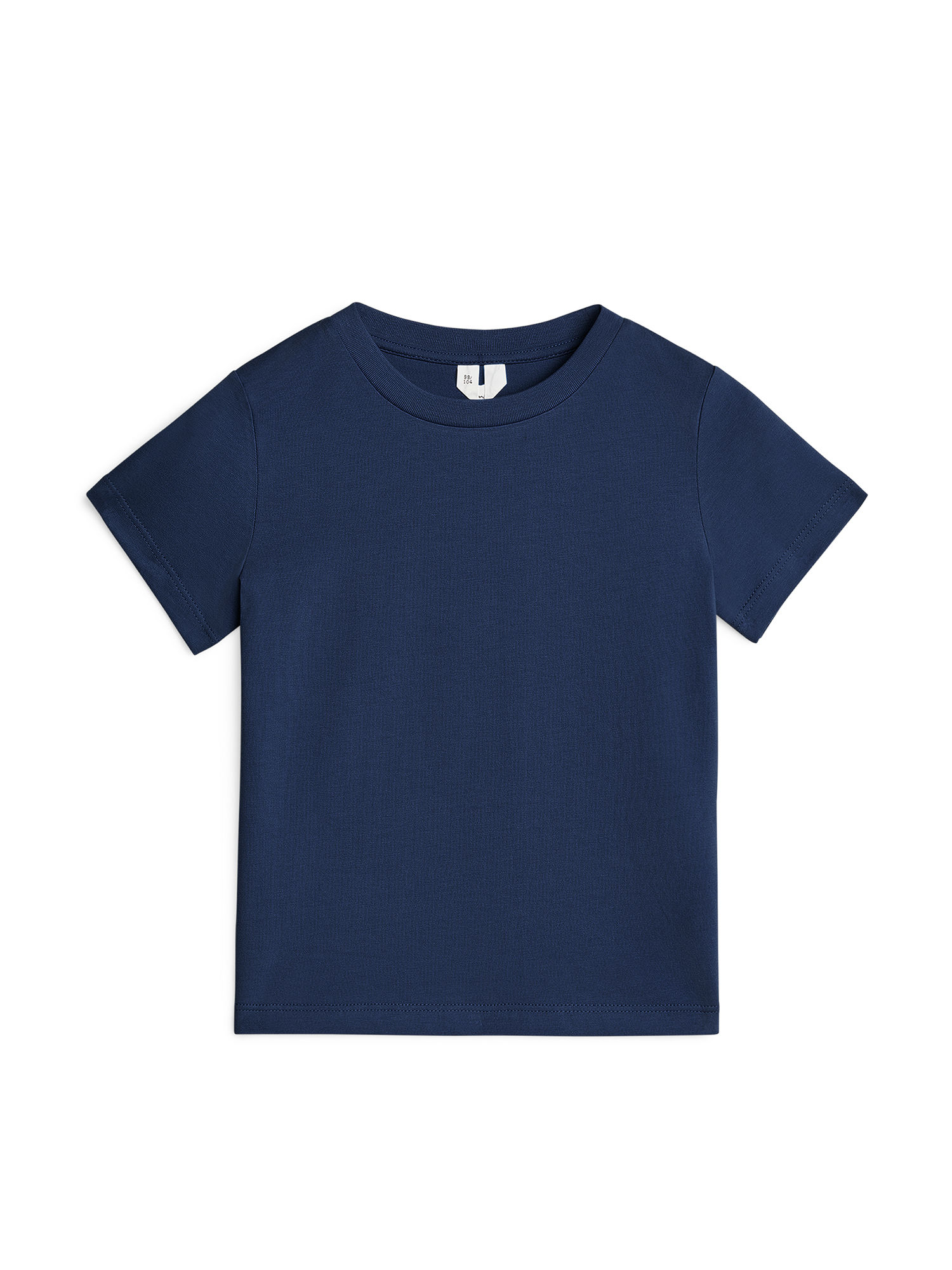 Fabric Swatch image of Arket organic cotton crew-neck t-shirt in blue