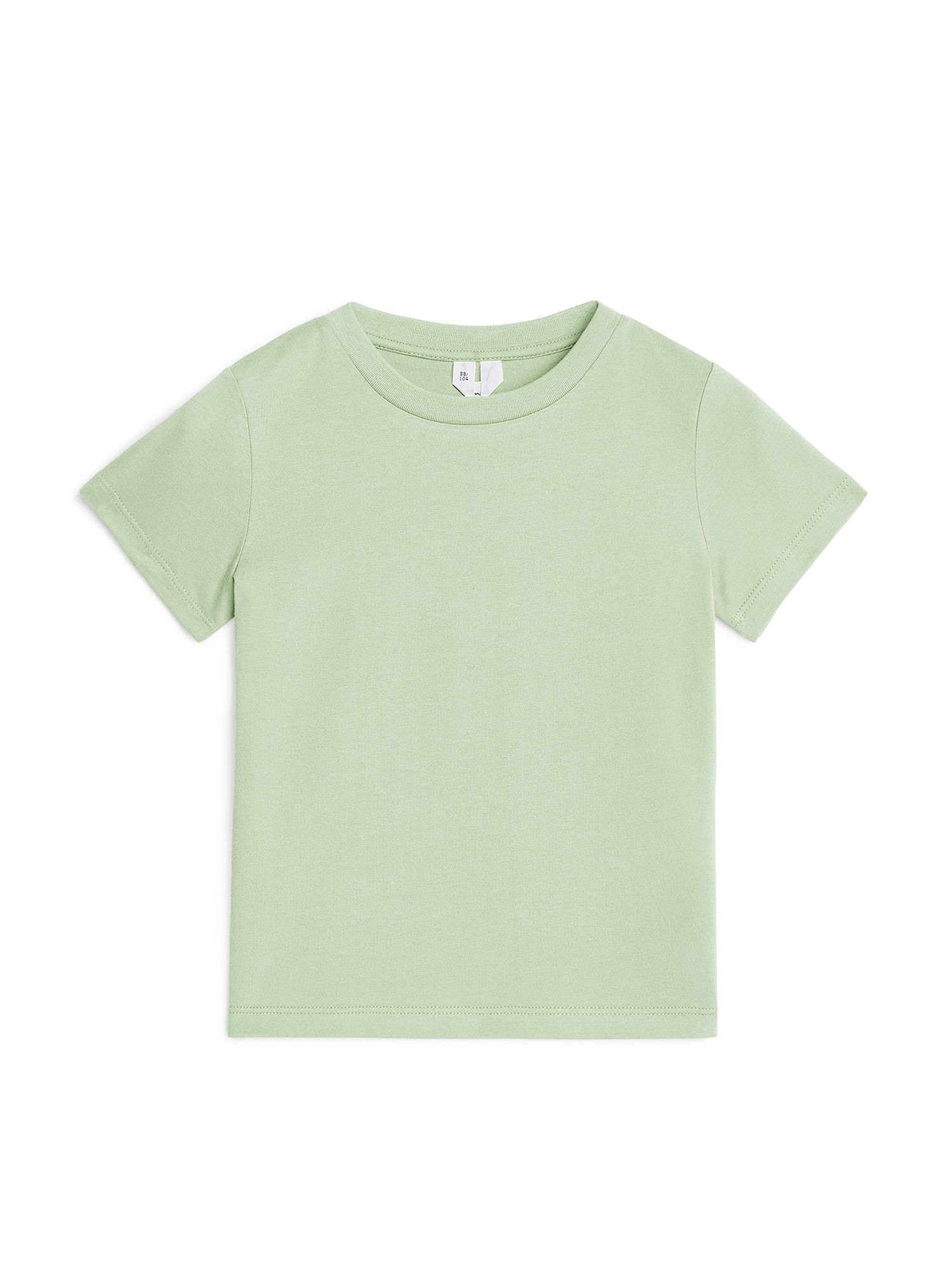Fabric Swatch image of Arket organic cotton crew-neck t-shirt in green