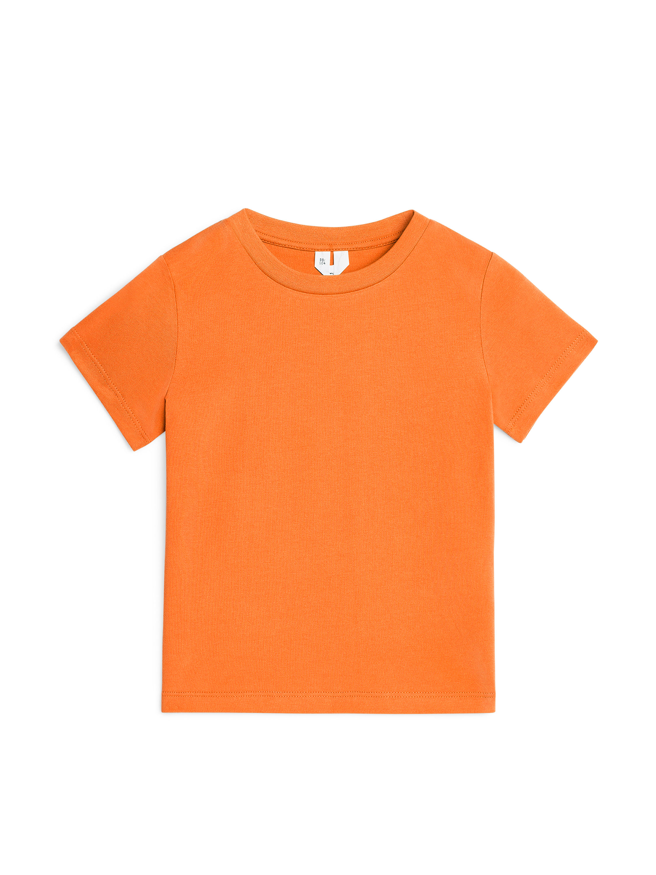 Fabric Swatch image of Arket organic cotton crew-neck t-shirt in orange