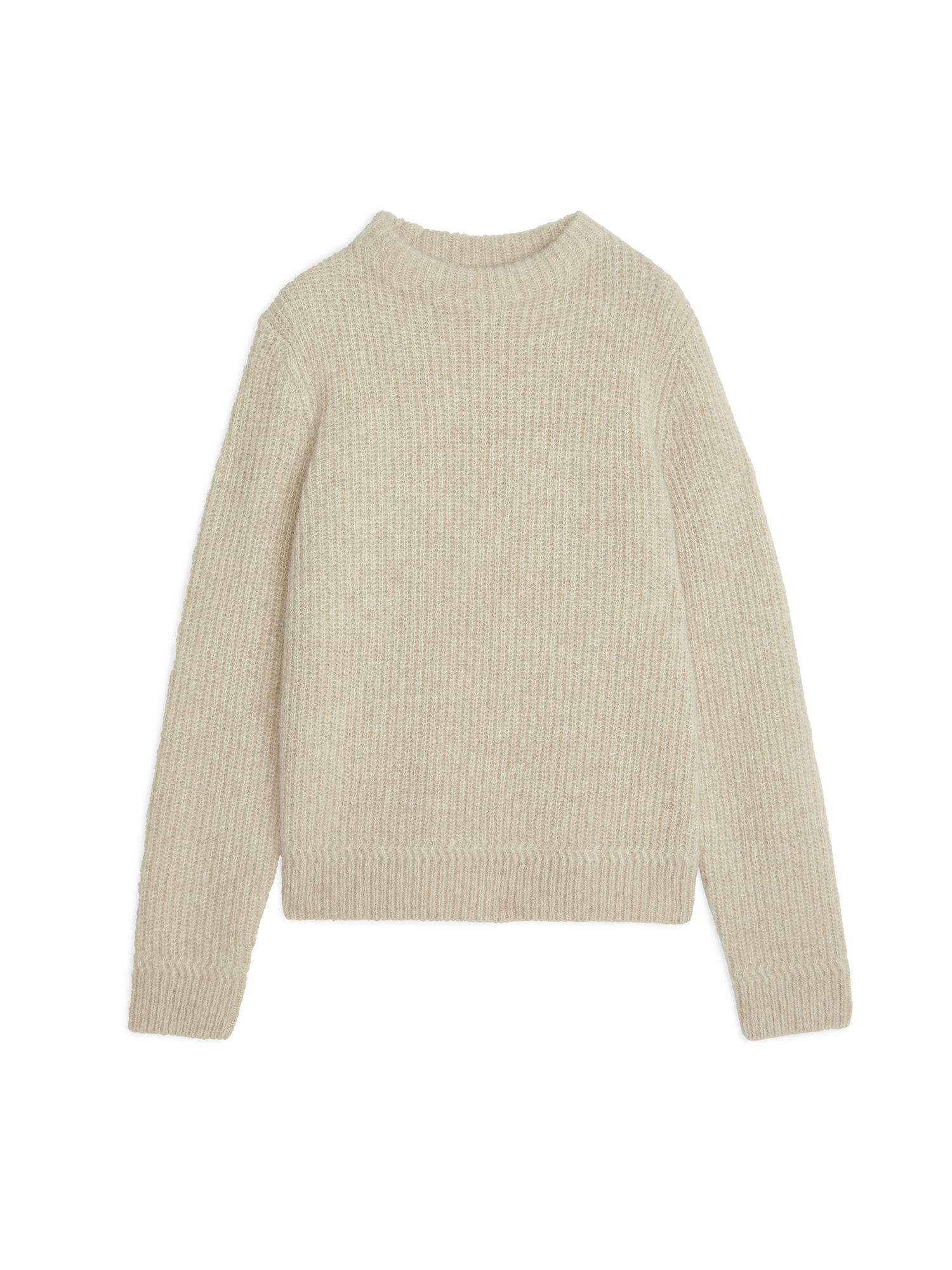 Fabric Swatch image of Arket crew-neck fisherman jumper in white
