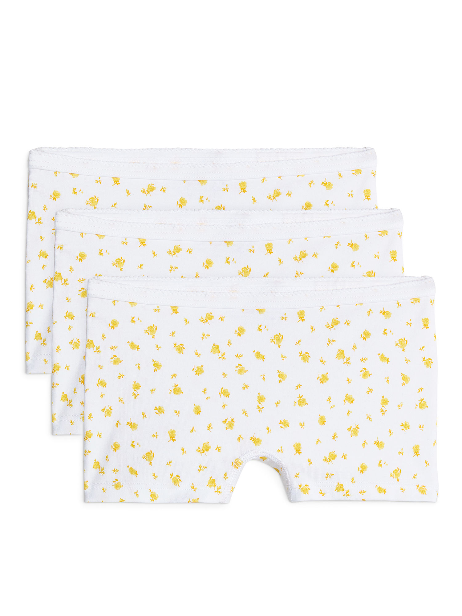 Fabric Swatch image of Arket cotton jersey boxer briefs, set of 3 in yellow