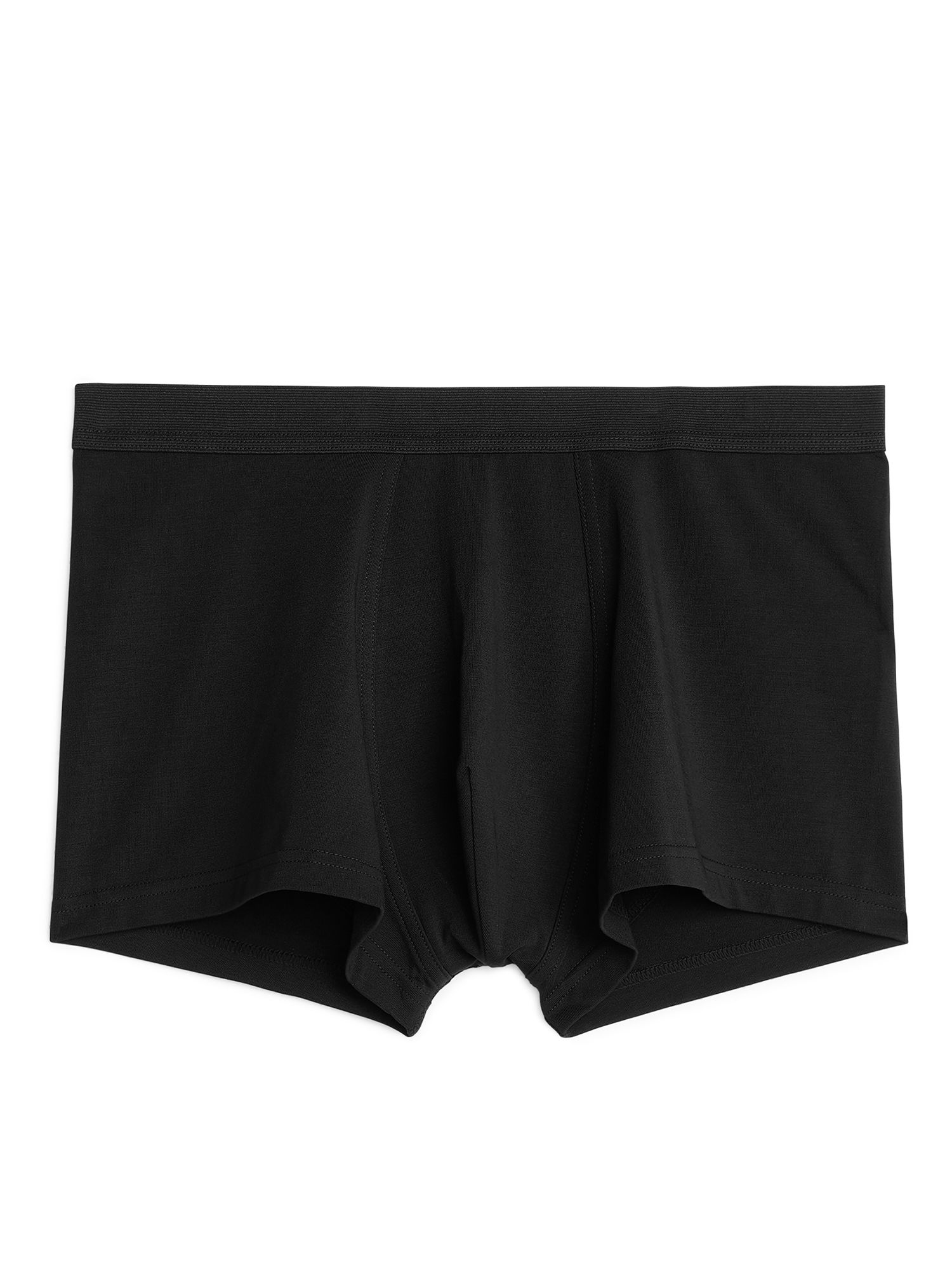 Fabric Swatch image of Arket pima cotton trunks in black
