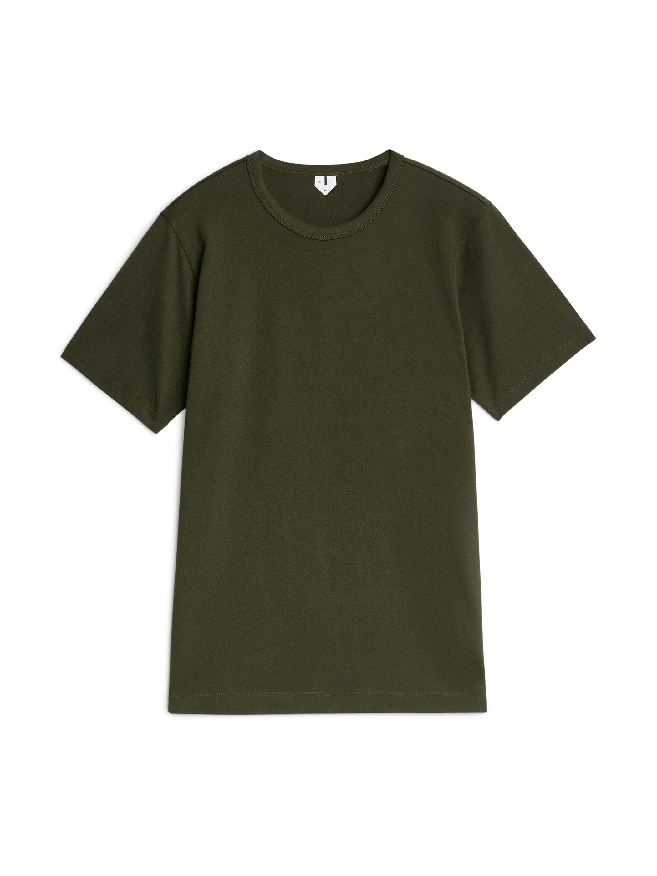 Fabric Swatch image of Arket 150 gsm pima cotton t-shirt in green