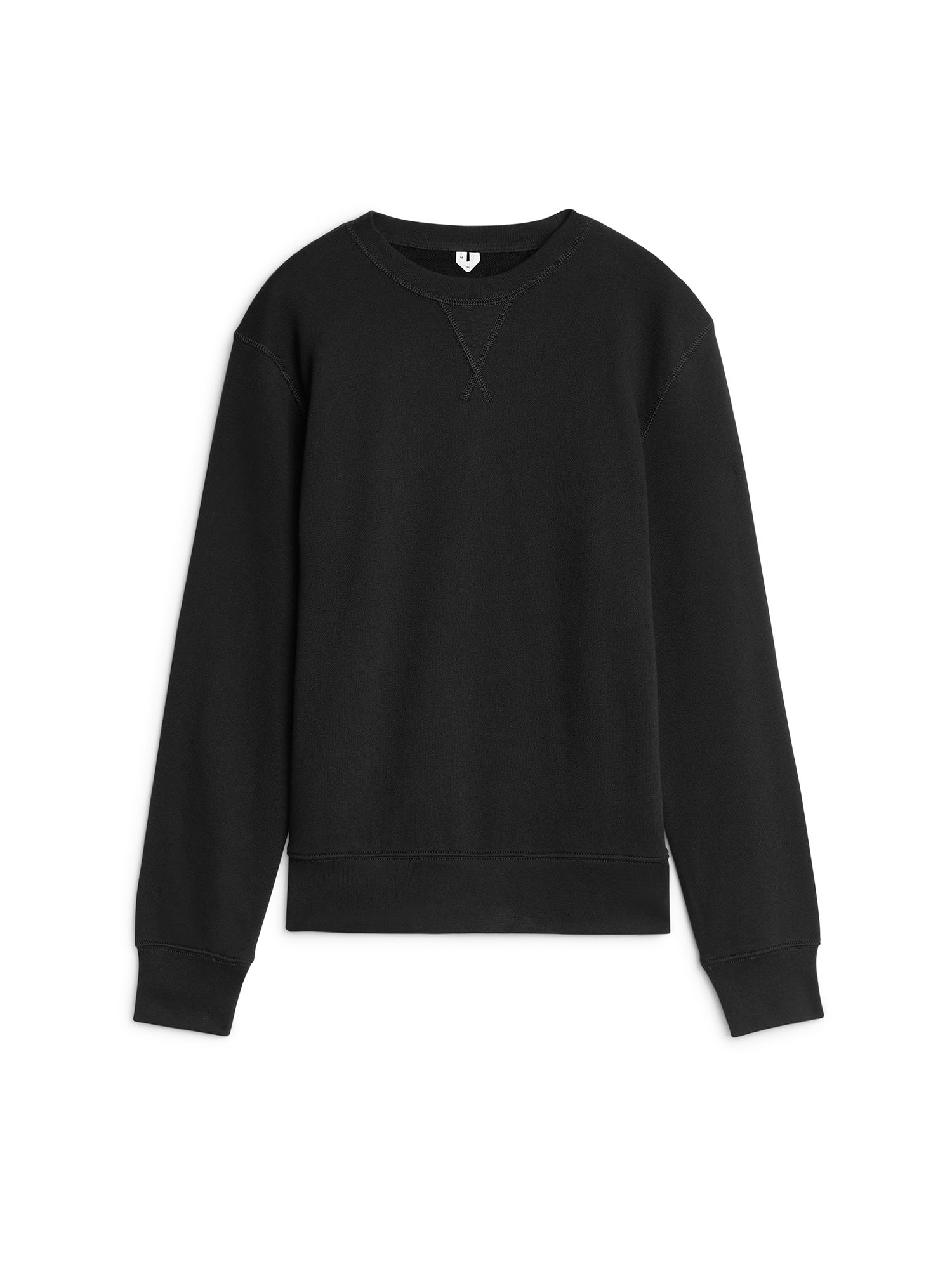 Fabric Swatch image of Arket 340 gsm french terry sweatshirt in black