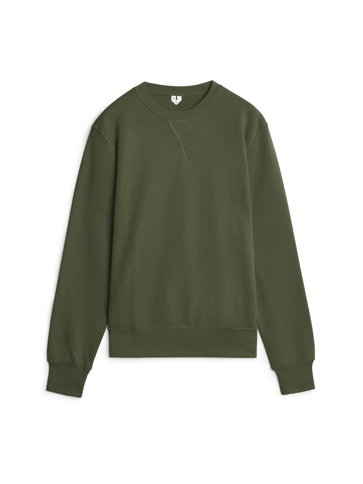 Fabric Swatch image of Arket 340 gsm french terry sweatshirt in green