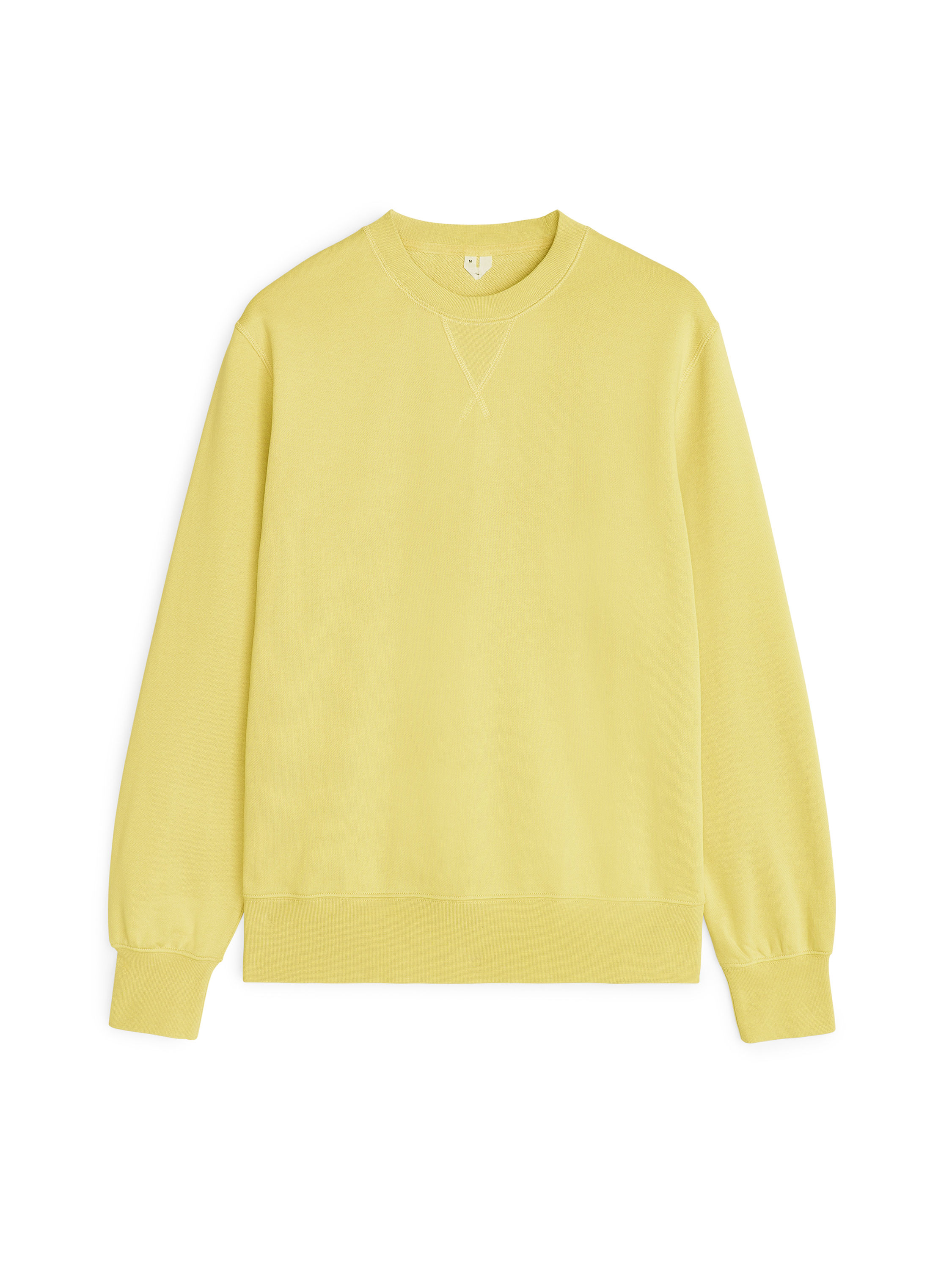 Fabric Swatch image of Arket french terry sweatshirt in yellow