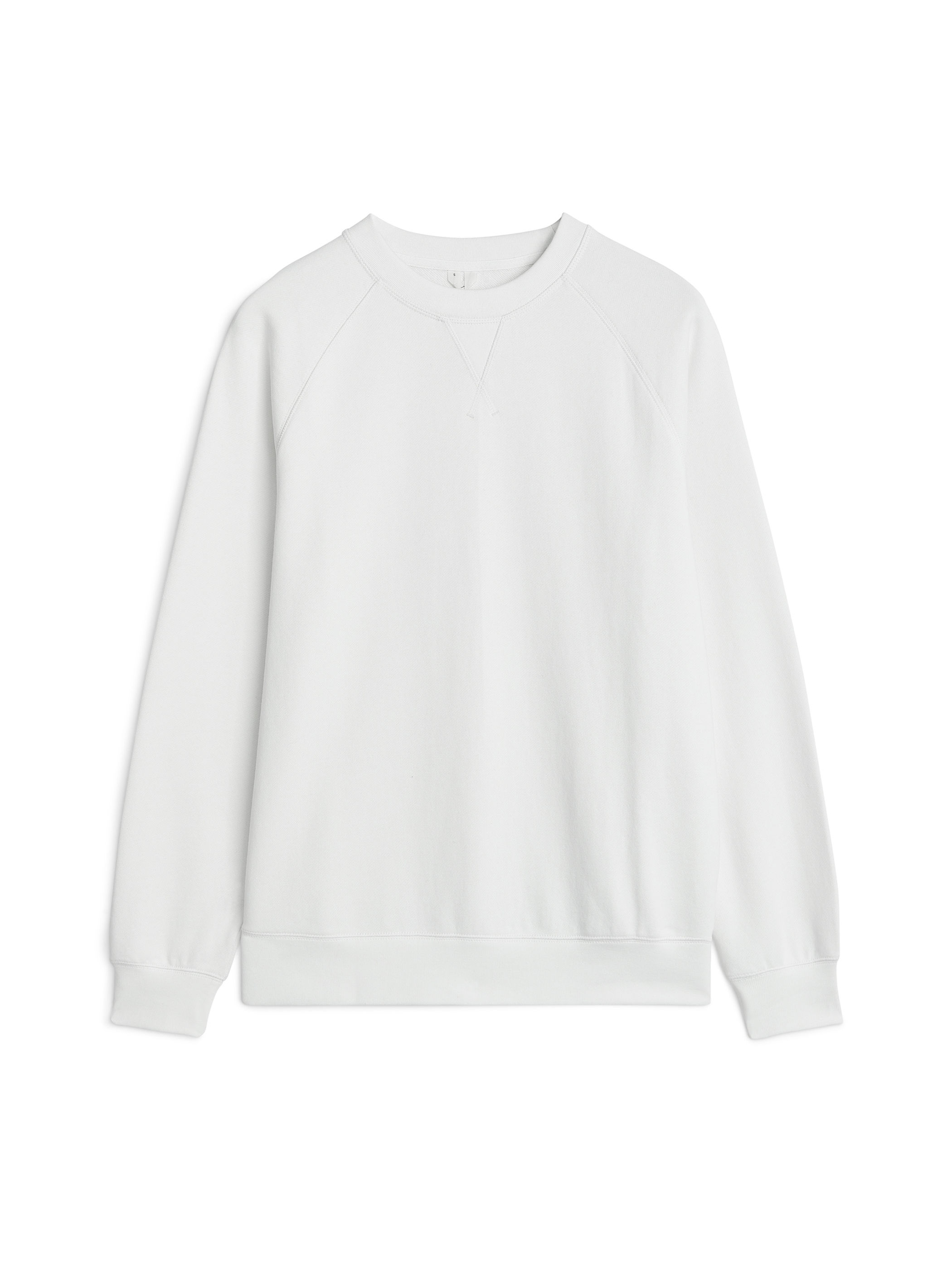 Fabric Swatch image of Arket pima cotton sweatshirt in white