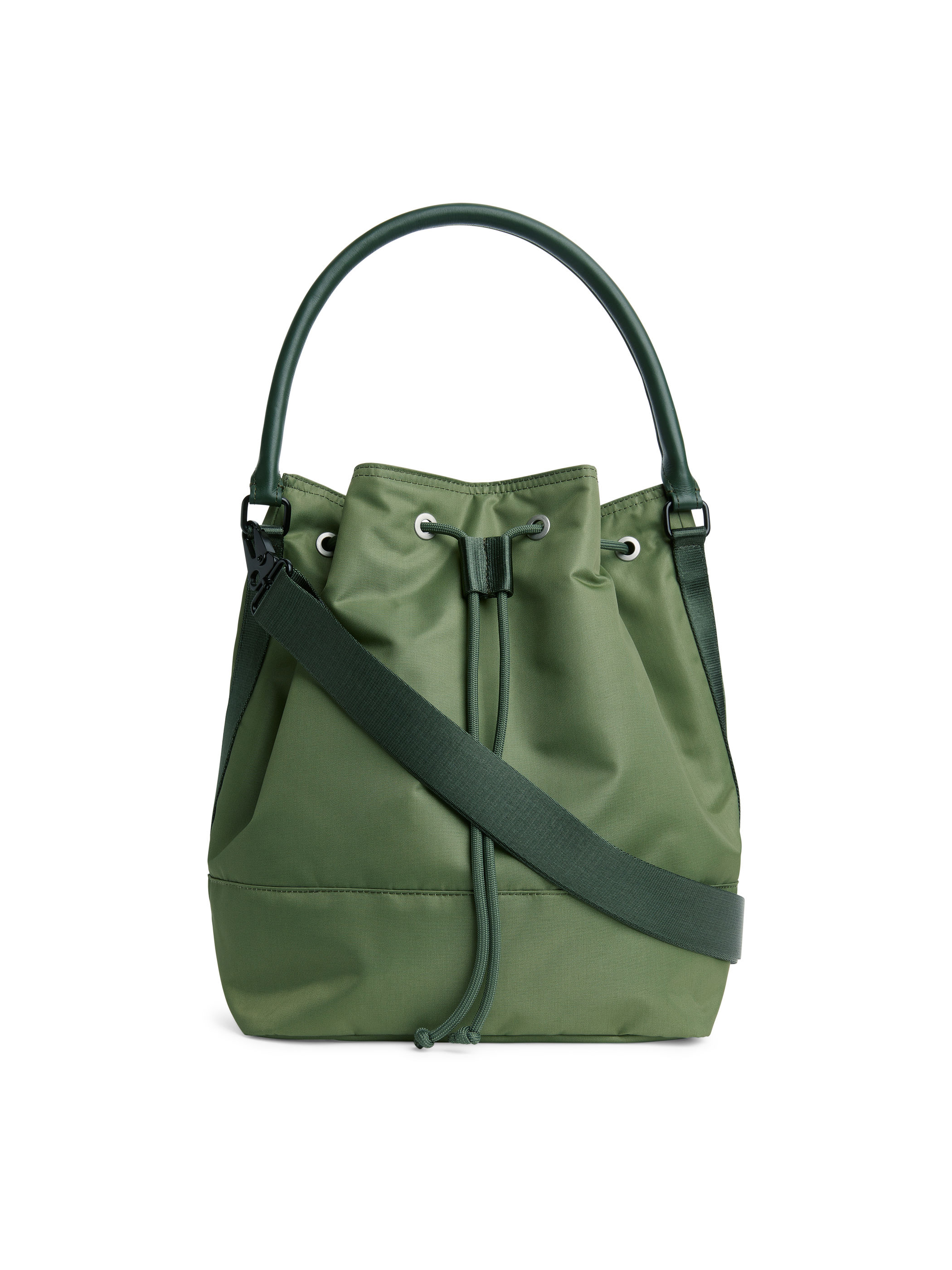 Fabric Swatch image of Arket nylon bucket bag in green