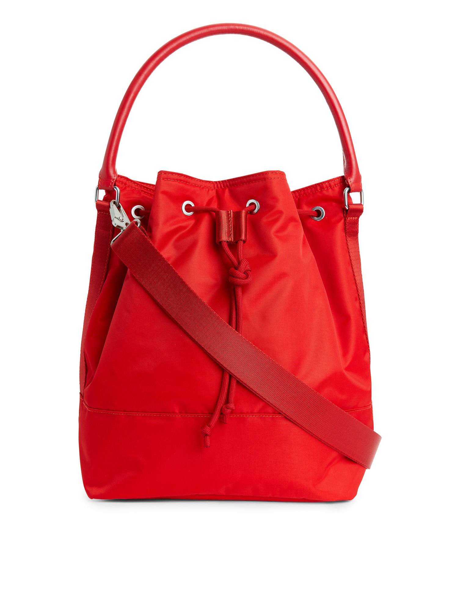 Fabric Swatch image of Arket nylon bucket bag in red