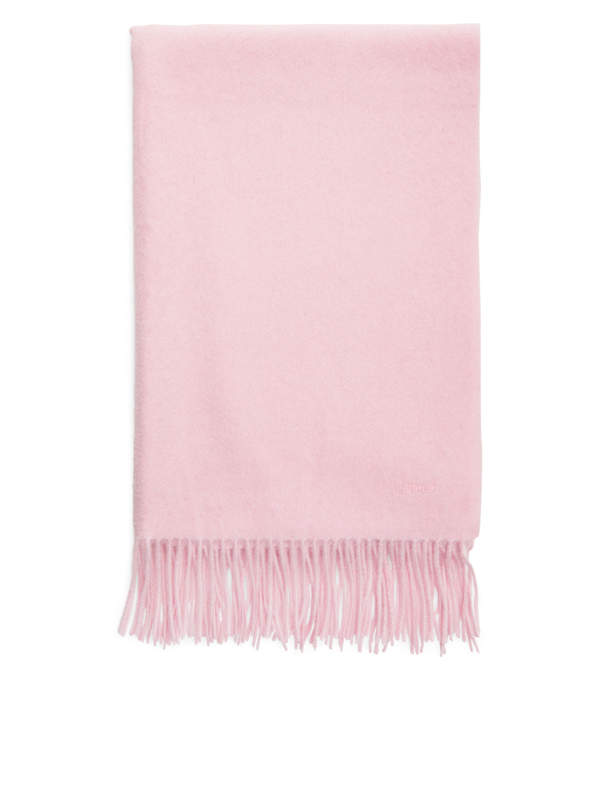 Fabric Swatch image of Arket woven cashmere scarf in pink