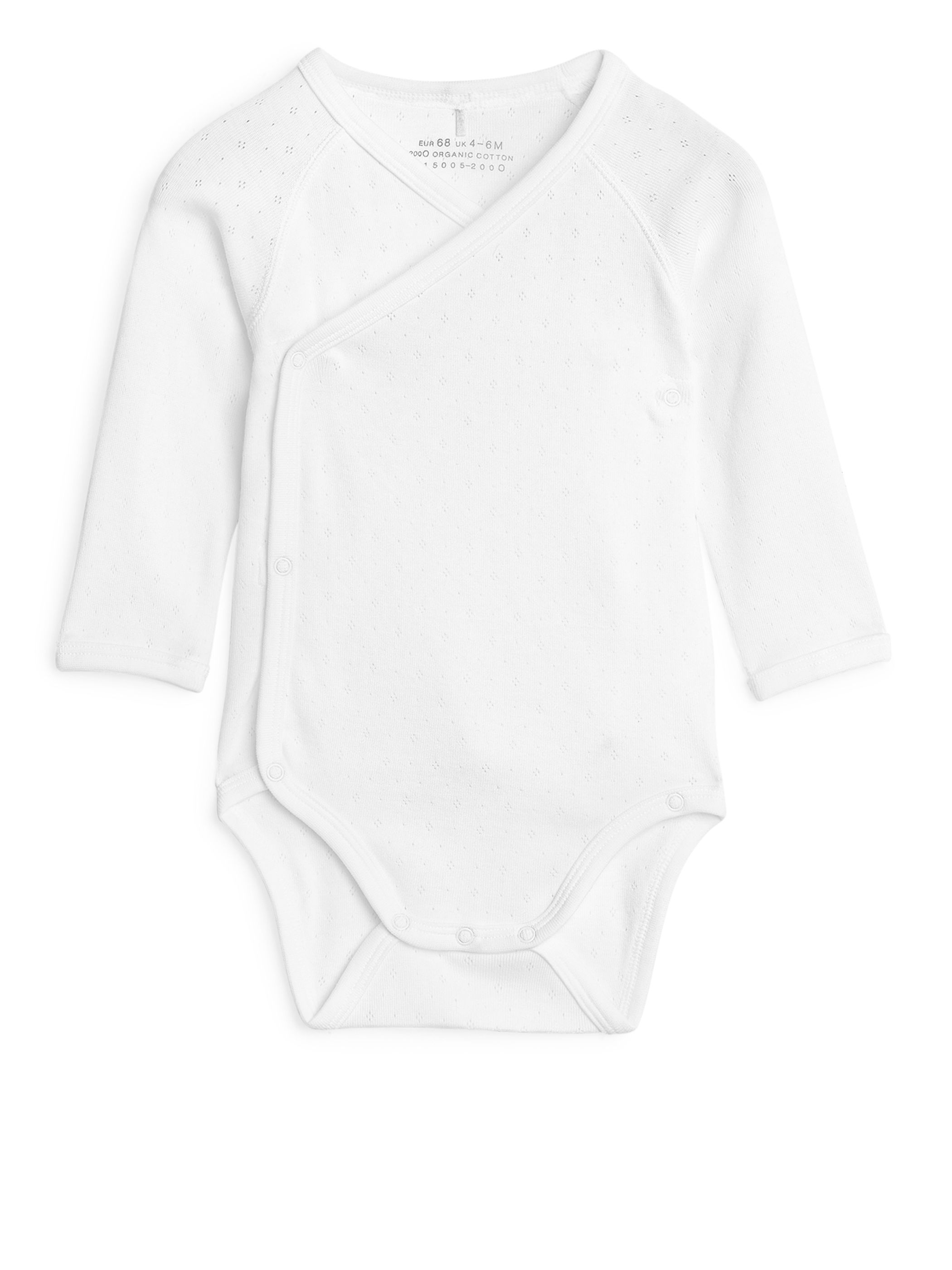 Fabric Swatch image of Arket wrapover bodysuit in white